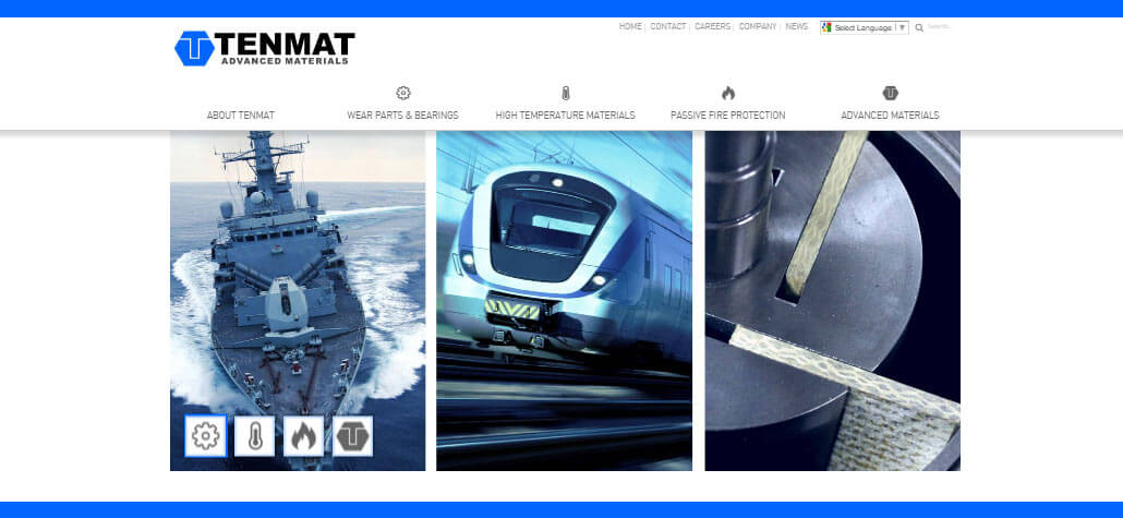 Tenmat.com Relaunch
